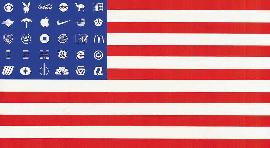 Adbusters, Shi-Zhe Yung, The Corporate America Flag, 2000