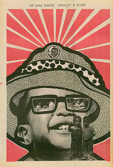 Emory Douglas, poster extrait du journal The Black Panther, 21 août 1971