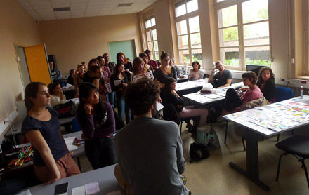 Formes Vives, workshop de quatre jours à l'IUP Arts appliqués de l'Université Toulouse II – Le Mirail, site de Montauban, octobre 2012