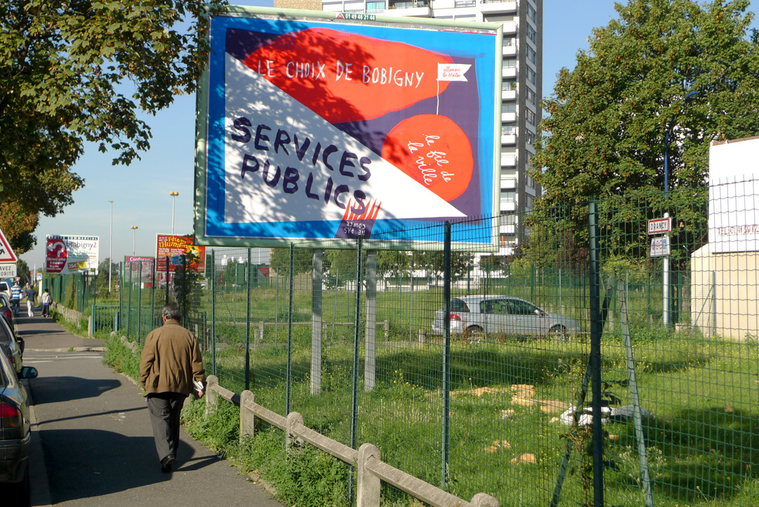 Formes Vives, poster to promote public services, City of Bobigny, 2010